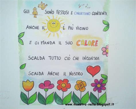 maestra nella primavera poesia illustrata