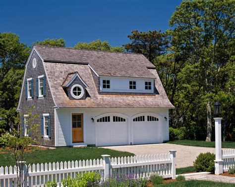 simple gambrel house style ideas morris island guest house garage and shed