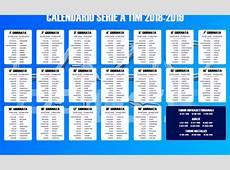 SERIE A 20182019 SCARICA IL CALENDARIO COMPLETO IN PDF