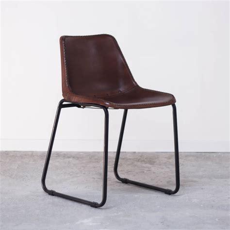 chaise cuir vintage fauteuil chaise en métal et cuir vintage industrielle