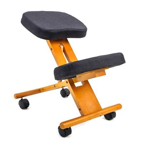 adjustable ergonomic kneeling chair stretch stress office