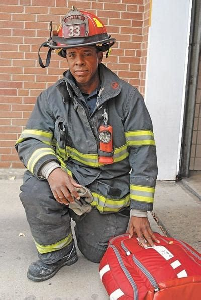 black indy firefighter called    ground