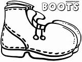 Boots Coloring Pages Colorings Boots10 sketch template