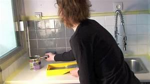peindre son carrelage avec les peintures julien youtube With repeindre un carrelage sol