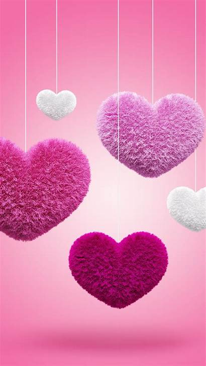 Mobile Hearts Pink Wallpapers Heart Background Backgrounds