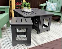 fine patio side table plans Outdoor Coffee Table with 4 Hidden Side Tables - buildsomething.com