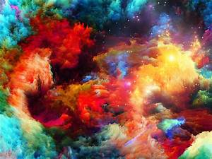 Download Wallpaper 1920x1440 Colorful space, abstract ...