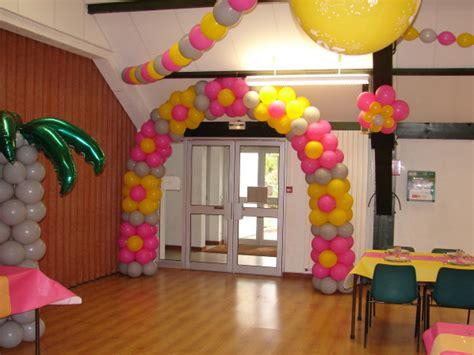decoration ballon 20ans 3 couleurs salle polyvalente loyat le de decosylyann