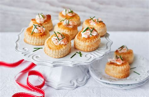 fillings for canapes salmon vol au vents tesco food