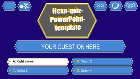 trivia game ppt template quiz template hexa download ppt themes
