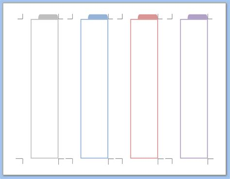 tab template my all in one place handy task tabs for your filofax