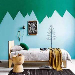 dcoration murale chambre bb 15 dcoration avec stickers With couleur beige peinture murale 17 pochoir nuage pour deco murale