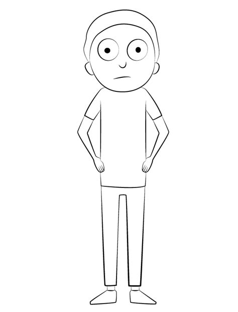 printable rick  morty coloring pages