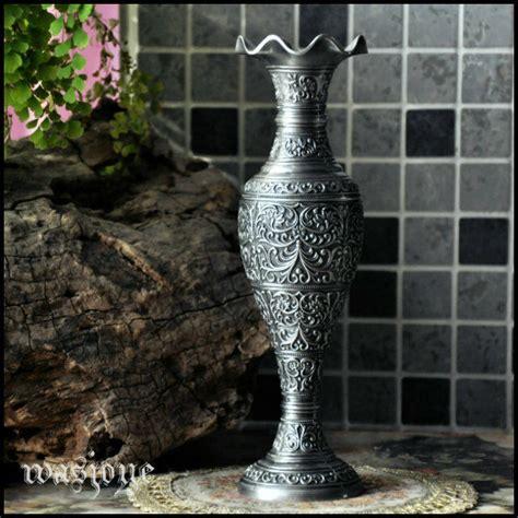 Table Vase by Vintage Home Decor Big Size Vase Baroque Flower Carved