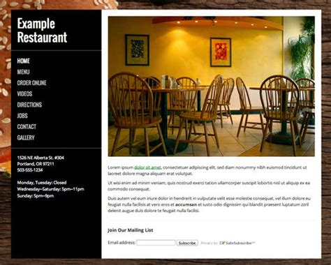 lets eat  restaurant website builder