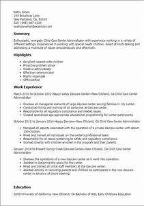 1 child care center administrator resume templates try With childcare resume template