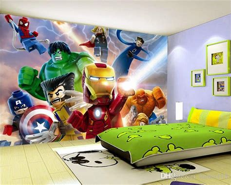 lego avengers wallpaper  walls mural cartoon
