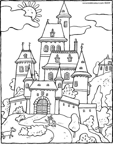 fairy tale castle kiddicolour