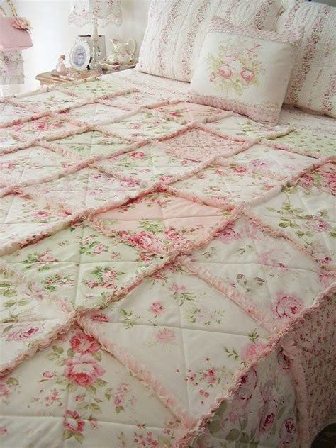 shabby fabrics rag quilt love it love it love it pink floral rag quilt decoration pinterest beautiful shabby