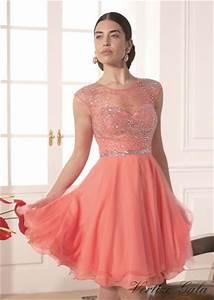 Recomendaciones Para El 2016: Vestidos Cortos De Color Coral venicce me
