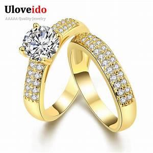 24k gold plated bijoux zircon wedding kunzite pair of With bague mariage