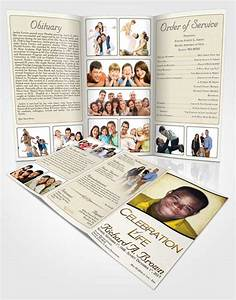 obituary template trifold brochure euphoric bliss With obituary pamphlet template