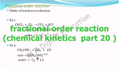fractional order reaction and its meaning(chemical ...