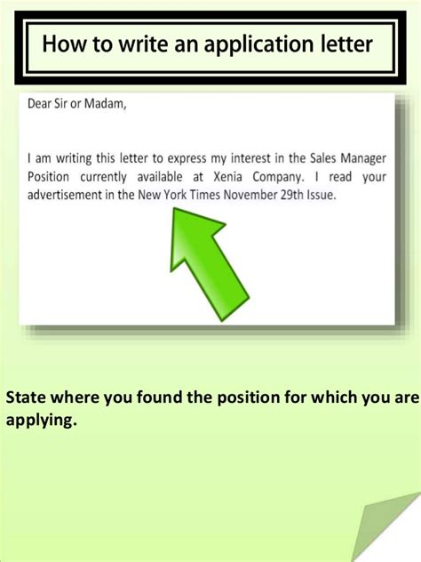 How To Make An Application by How To Write An Application Letter