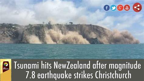 zealand earthquake tsunami hits  magnitude