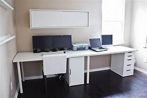 Ikea Tischplatte Linnmon : clean white computer desk setup from ikea linnmon adils with alex storage drawer minimalist ~ Eleganceandgraceweddings.com Haus und Dekorationen