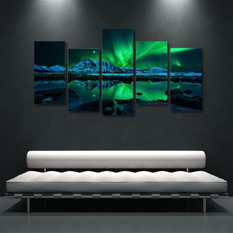 custom size welcome mats northern lights borealis 5 wall canvas