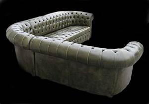 canape chesterfield d angle vue de dos en cuir de vachette With canapé d angle cuir vert
