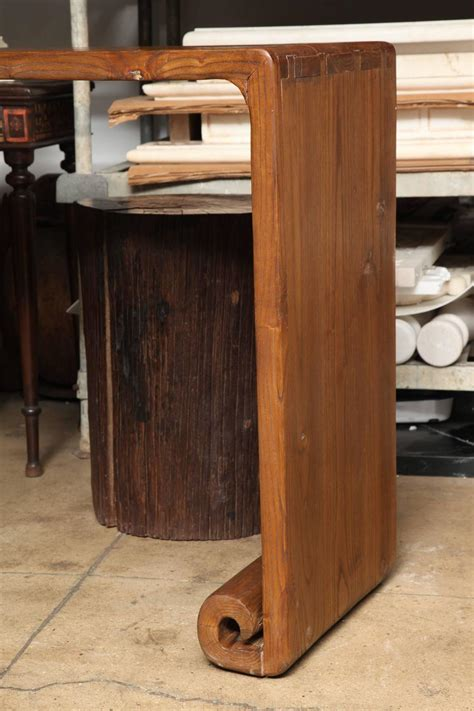 mahogany kitchen cabinets scroll console table at 1stdibs 3960
