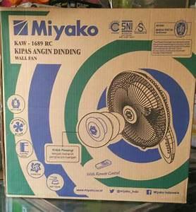 Jual Kipas Angin Miyako Remote Control Kaw 1689 Rc Dinding