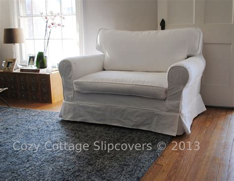 chair and a half slipcover cozy cottage slipcovers brushed canvas chair and a half