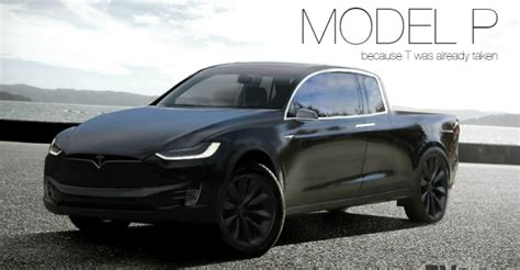 Tesla Model P is elektrische pick-up truck