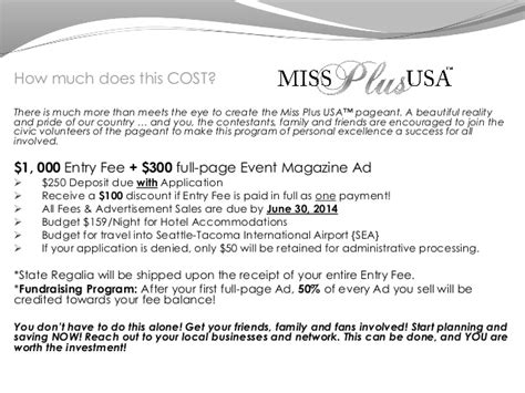 pageant ad page template miss plus usa prospective contestant presentation