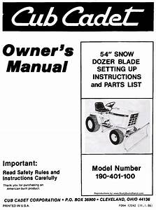 Cub Cadet 54 Inch Dozer Blade Dirt Snow Setting Up And