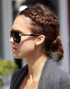 Jessica Alba Updo Hairstyles With Braids 2015 New - Hairstyles
