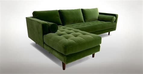 15+ Choices Of Green Sectional Sofa With Chaise  Sofa Ideas