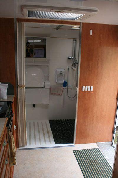 The extra sink serves as a more sanitary solution versus bathroom goers having to beeline for the kitchen sink. sprinter van shower - Google Search · SprinterVan LifeCamper Van ToiletsPlatformBathrooms   Casa ...