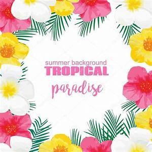 affiche de summer tropicales avec des fleurs exotiques With affiche chambre bébé avec tee shirt a fleur