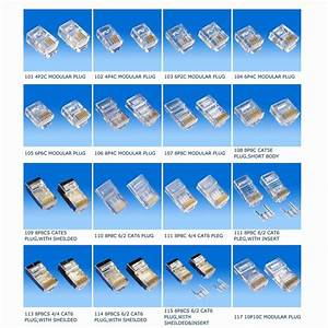 China Rj11 Modular Plug Connector 6p4c  6p6c  8p8c
