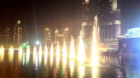 Beautiful Night Show With Water Dance