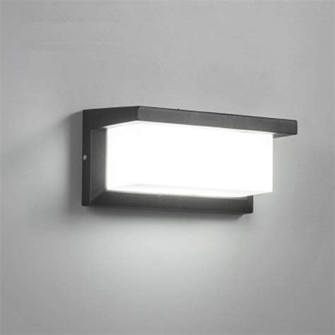 18w outdoor lighting modern wall light led wall sconce square metal bulkhead lights exterior