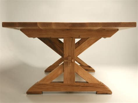 Custom Made French Solid Oak Farm Table for Sale   Old Plank