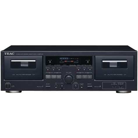 Cassette Player by Teac W 890rmk2 Bk Dual Cassette Player Recorder