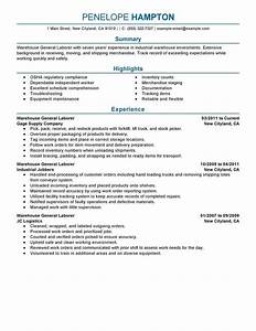 best general labor resume example livecareer With general resume sample
