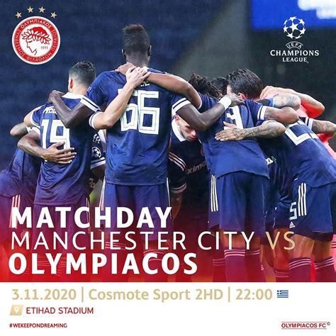 LINK Live Streaming Man City vs Olympiakos di Liga ...