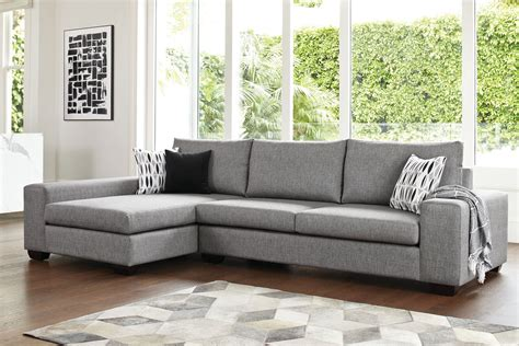 Kingdom 4 Seater Fabric Sofa with Chaise by Furniture